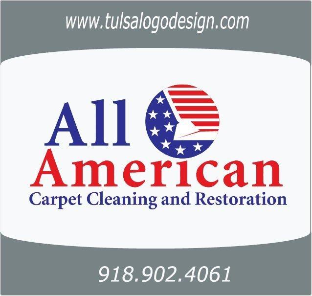 All American Carpet Tulsa Logo Design Graphic Design Sample