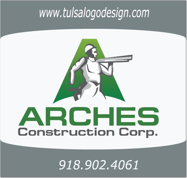 Tulsa Logo Design Graphic Design Sample Arches Construction