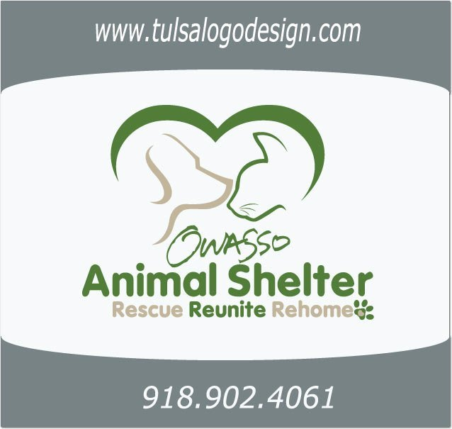 Owasso Animal Shelter Tulsa Oklahoma Graphic and Logo Design Sample